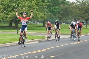 Coach O'B cycling client Jack McCann winning